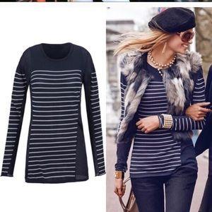 CAbi Regiment Stripe Sweater; Like New